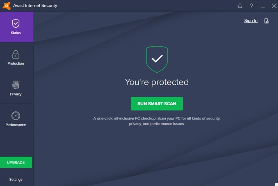 Các chế độ quét thông minh của Avast Free Security
