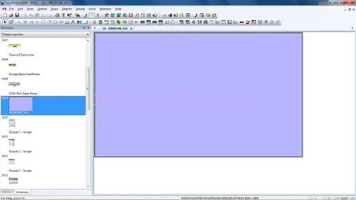 Giao diện chính của phần mềm lập trình hmi weintek