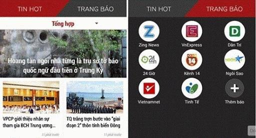 Một số ứng dụng cập nhật tin tức