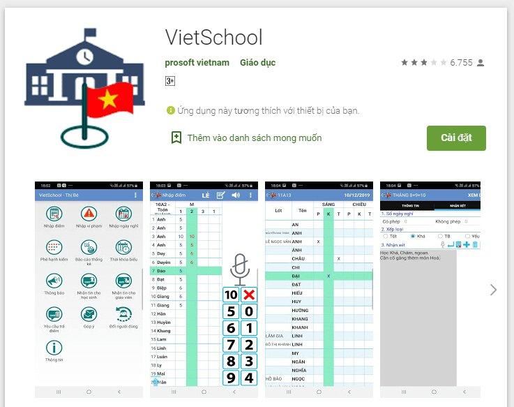 Tải ứng dụng Vietschool cho Android