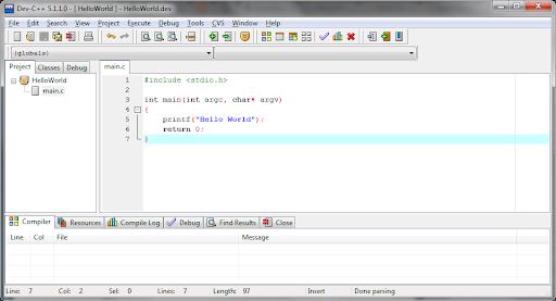 Dev-C++ có môi trường tương tác cao, thích ứng với nhiều hệ điều hành khác nhau.