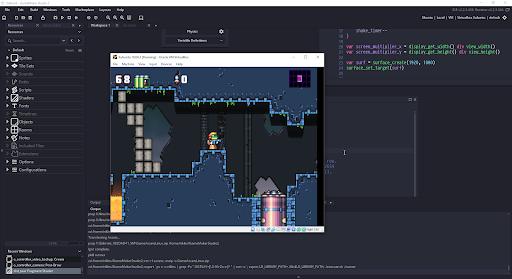 Game Maker Studio có giao diện trực quan, dễ dàng thích ứng.