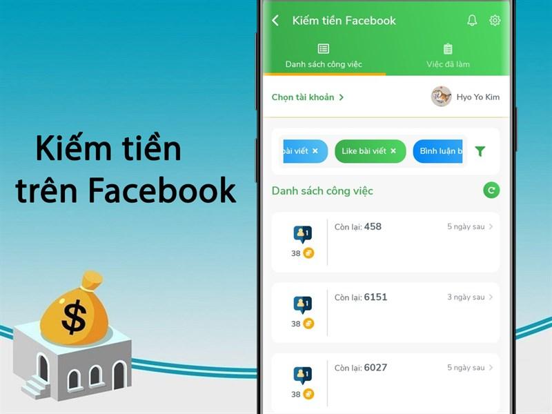 Hana sử dụng nền tảng mạng xã hội để kiếm tiền online