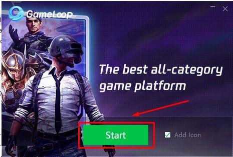 Nhấn vào Start để bắt đầu kích hoạt ứng dụng