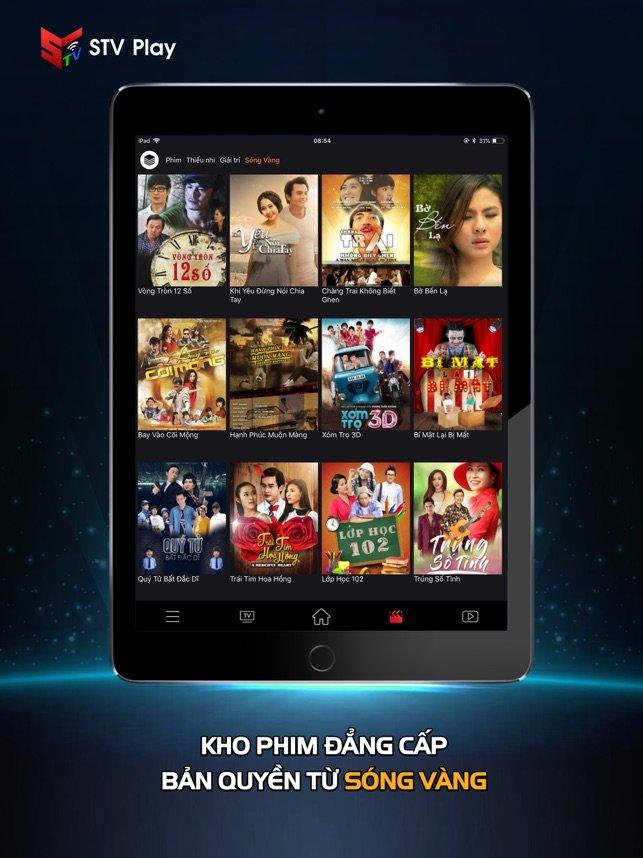Phần mềm xem tivi online trên điện thoại STV Play