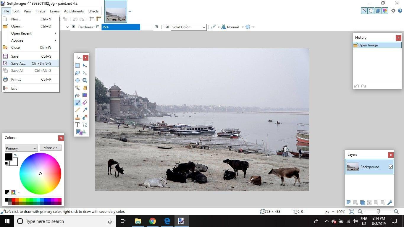 Phần mềm chỉnh ảnh Paint.NET