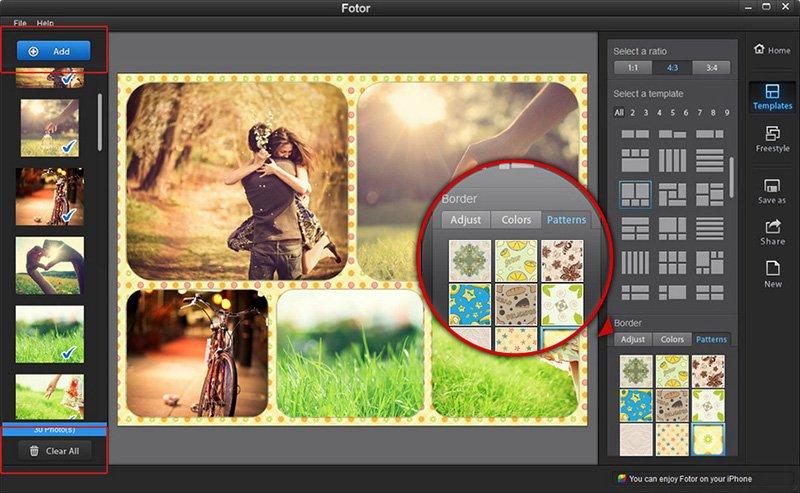 Phần mềm chỉnh ảnh Fotor