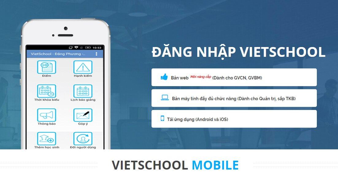 Nhà trường và phụ huynh dễ dàng quản lý học sinh qua ứng dụng VietSchool