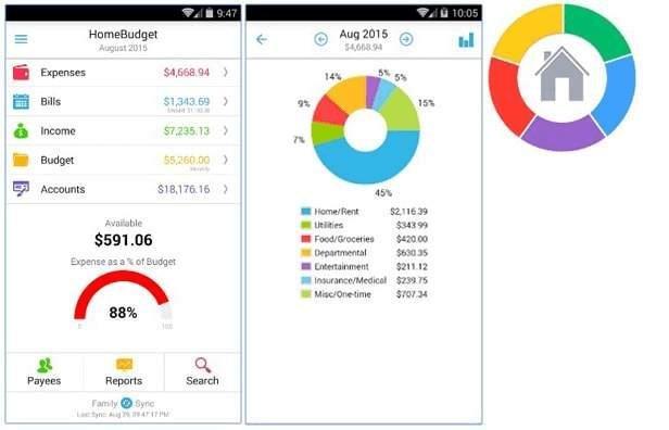 Quản lý tài chính cá nhân app Home Budget