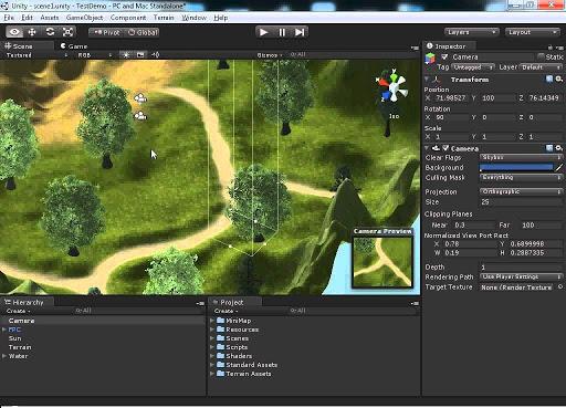 Unity là phần mềm làm game 3D đa nền tảng.