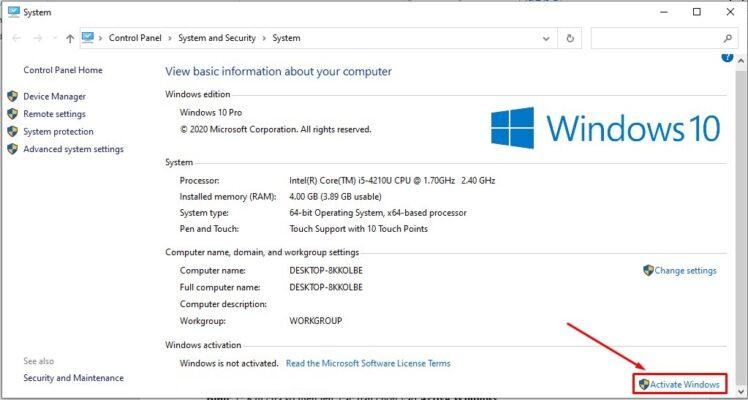 Active Windows.