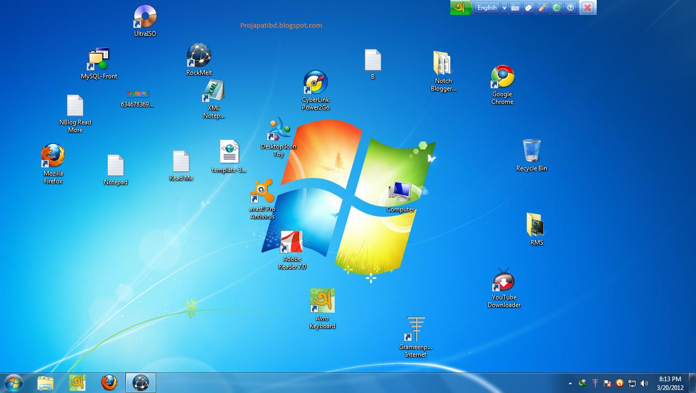 Desktop icon toy có nhiều tính năng độc lạ