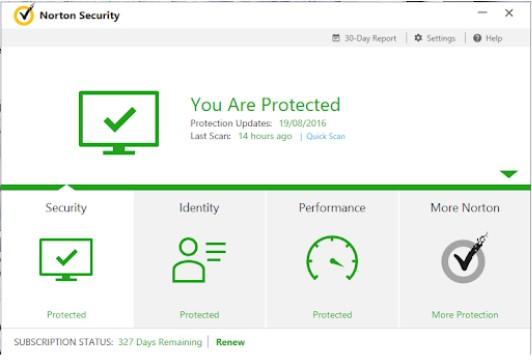 Hình ảnh Norton Internet Security bản quyền