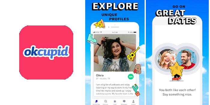 Tính năng của ứng dụng OkCupid