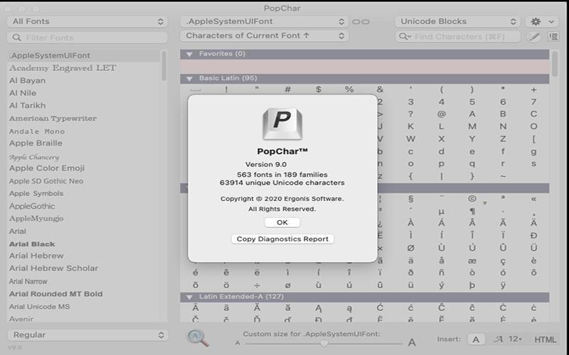 phần mềm PopChar X for mac là gì