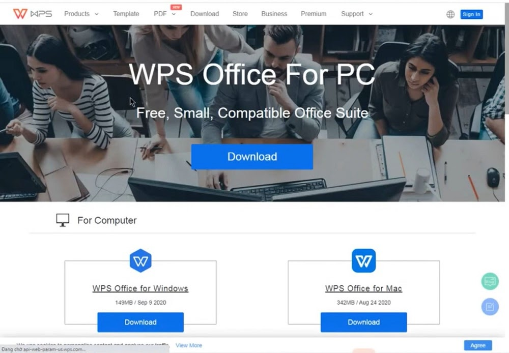 Trang web tải WPS Office