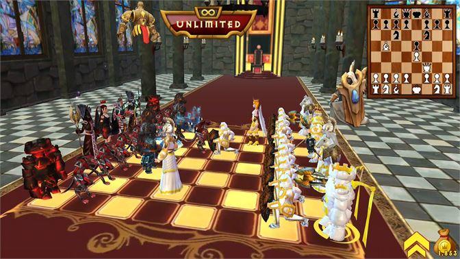 Chơi game cờ vua 3D War chess đơn giản