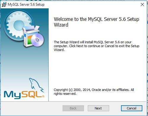 tiếp tục việc cài đặt phần mềm MySQL