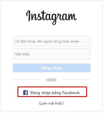 đăng nhập bằng facebook