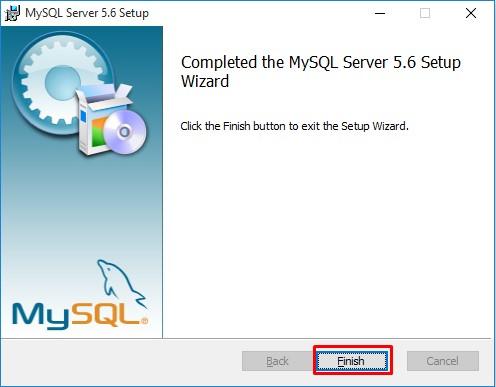 hoàn tất việc cài đặt phần mềm MySQL