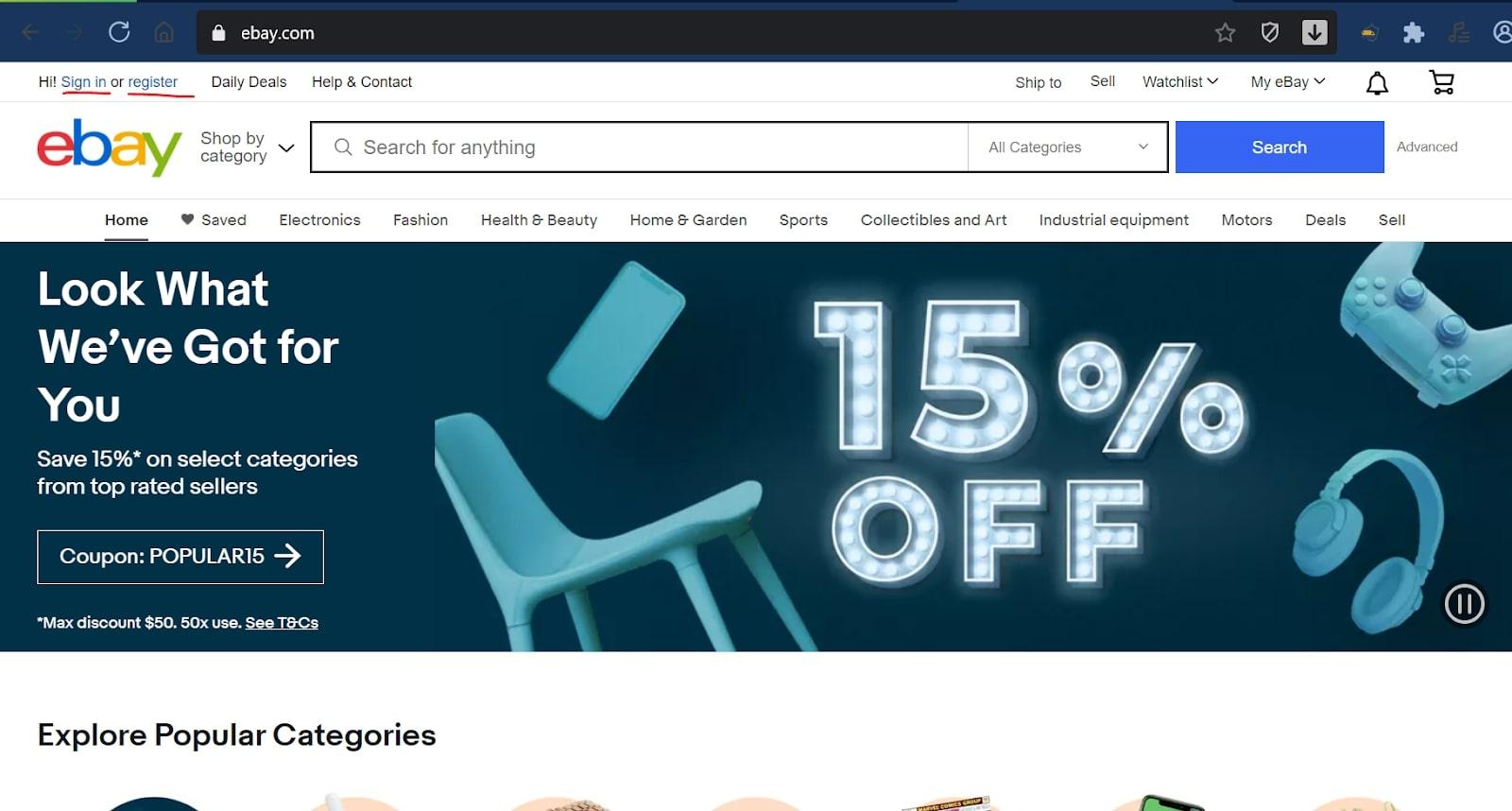 Hướng dẫn tạo tài khoản ebay