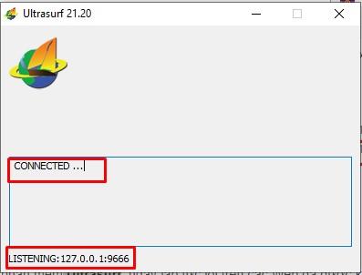 kết nối thành công phần mềm Ultrasuft