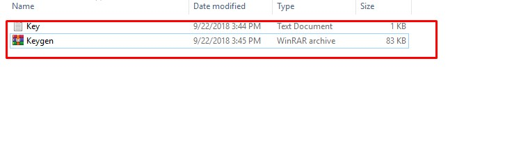 Chọn file keygen