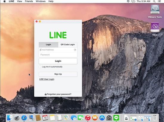 Đăng nhập Line for mac