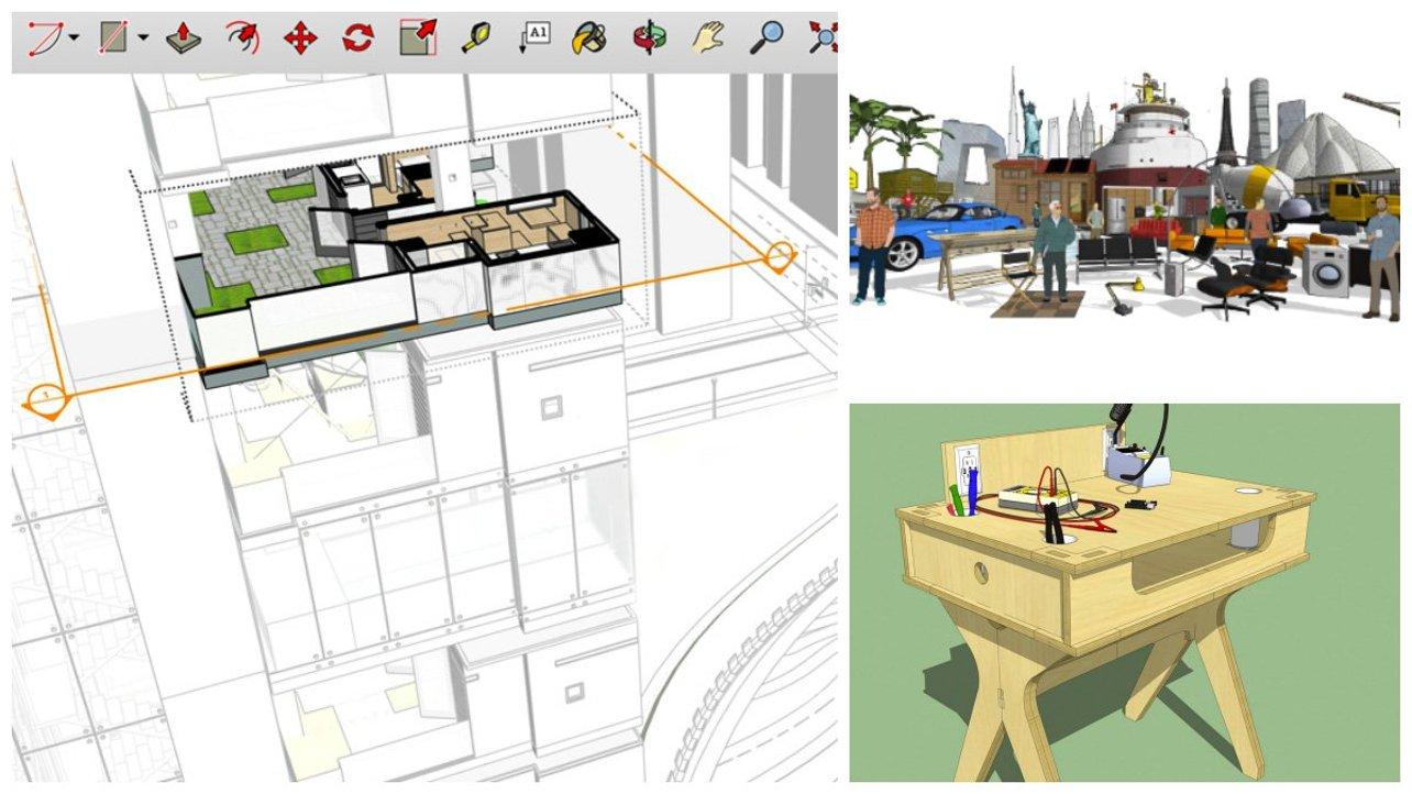 Mẫu thiết kế trên phần mềm sketchup Free