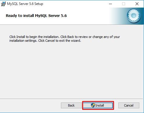 Nhấn install để cài đặt MySQL
