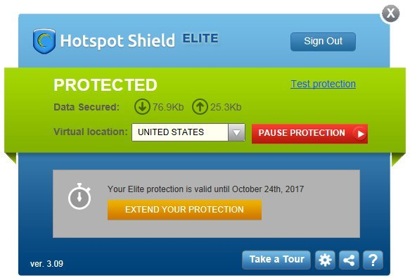 Phần mềm fake ip Hotspot Shield
