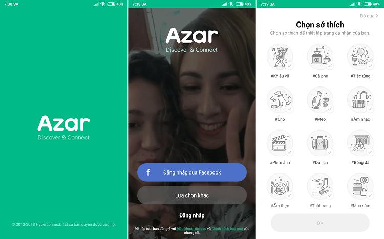 Mở ứng dụng Azar trên trình giả lập