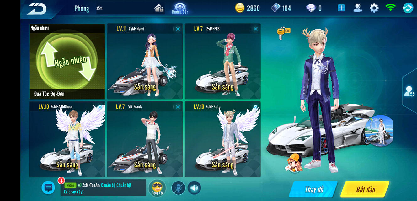 Tính năng đội đua trong game ZingSpeed