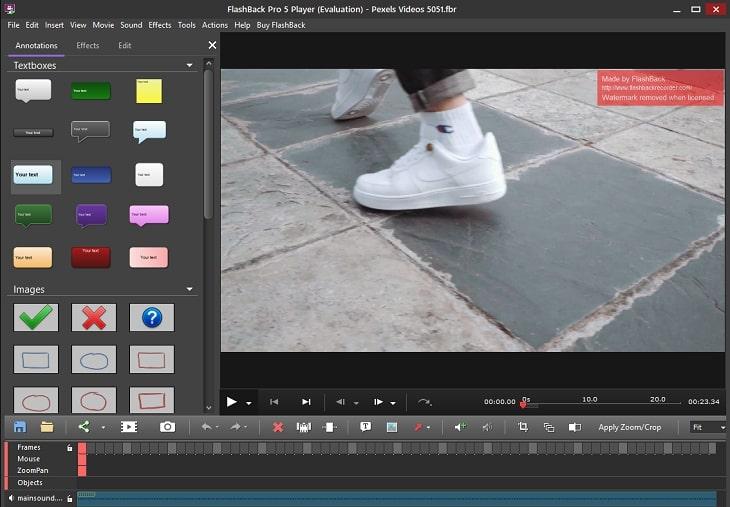 Tính năng quay sửa video tại Flashback