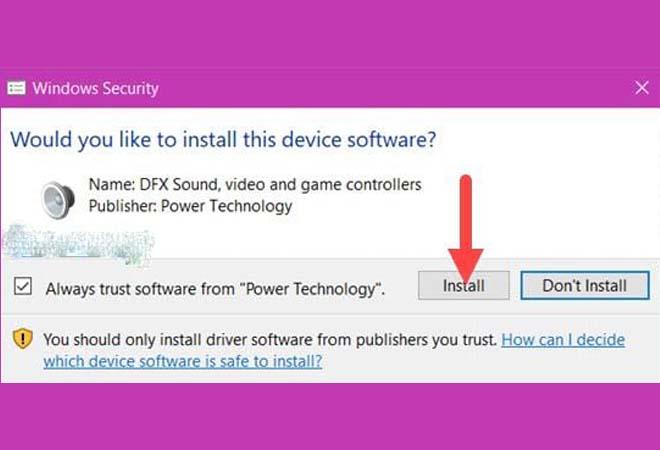 """nhấn vào """"install"""