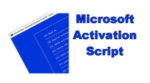 Phần mềm Microsoft Activation Scripts