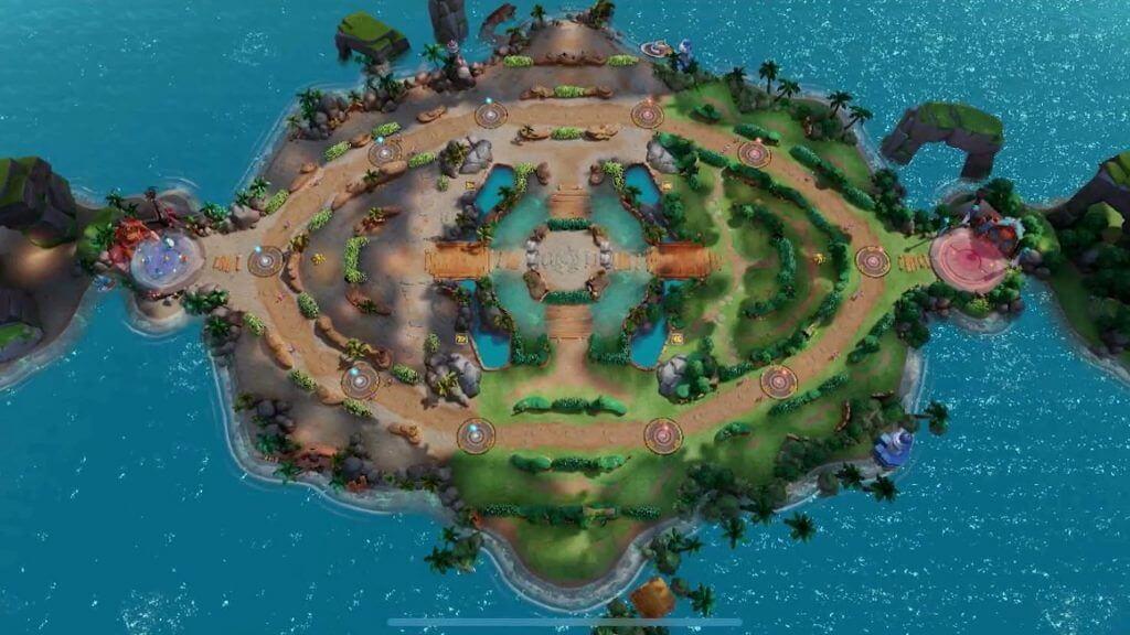 Bản đồ thu nhỏ trong Pokémon Unite
