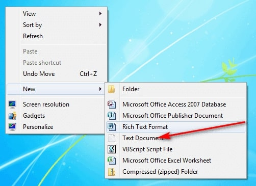 Mở file Text Document