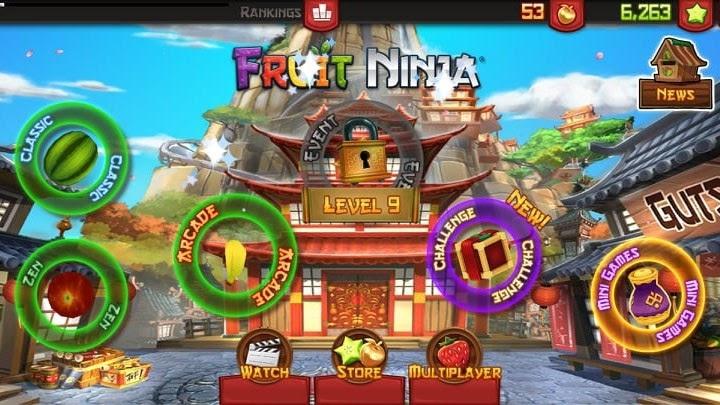 Cấu hình trò chơi Fruit Ninja