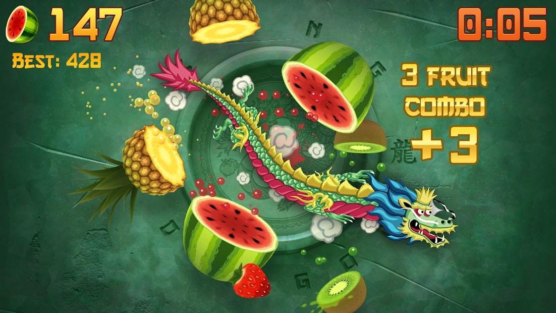 Giao diện trò chơi Fruit Ninja