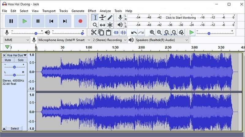 Cách chỉnh giọng trong audacity