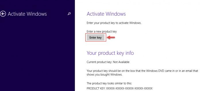 """Nhấn Enter key và tiến hành nhập mã ở mục """"OEM Key"""""""
