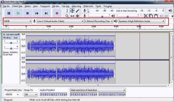 Cách sử dụng phần mềm ghi âm audacity