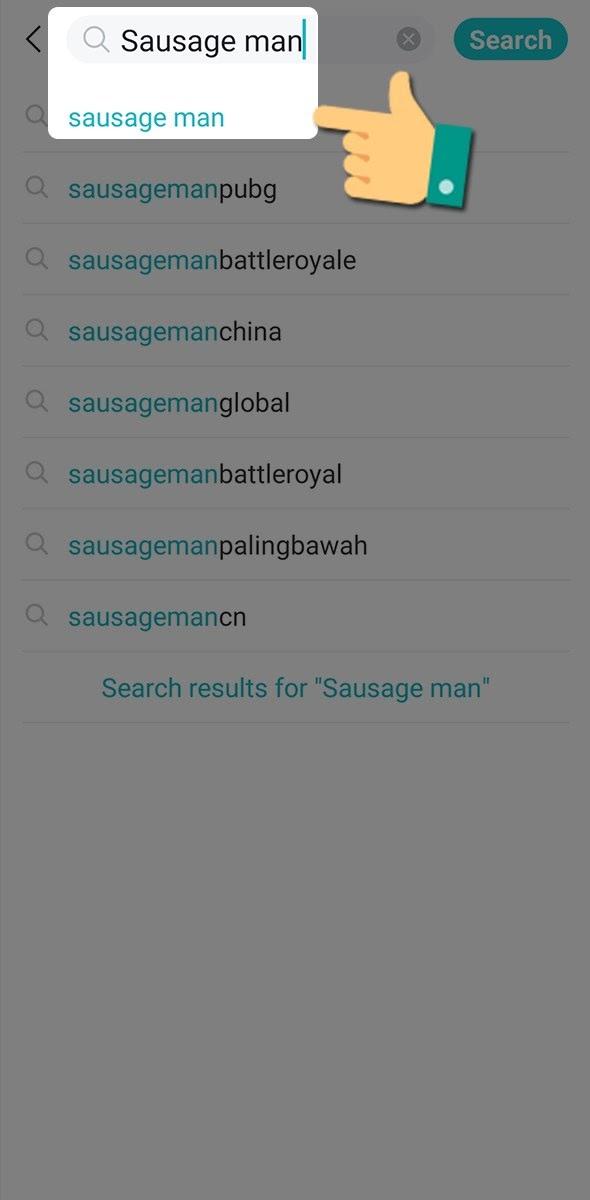 ứng dụng trò chơi với key Sausage Man
