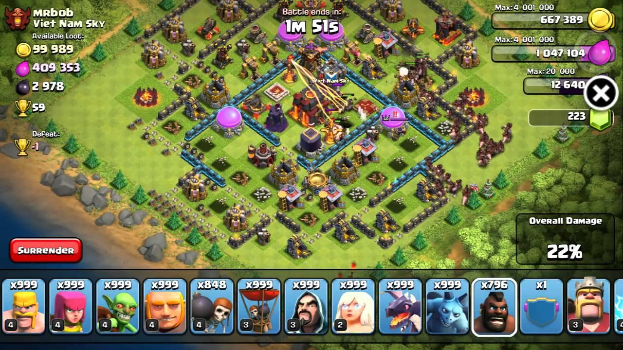 Đế chế lớn mạnh trong hack clash of clans