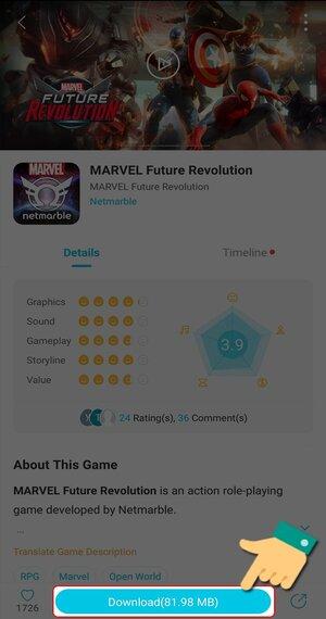 Cài đặt game trên QooApp