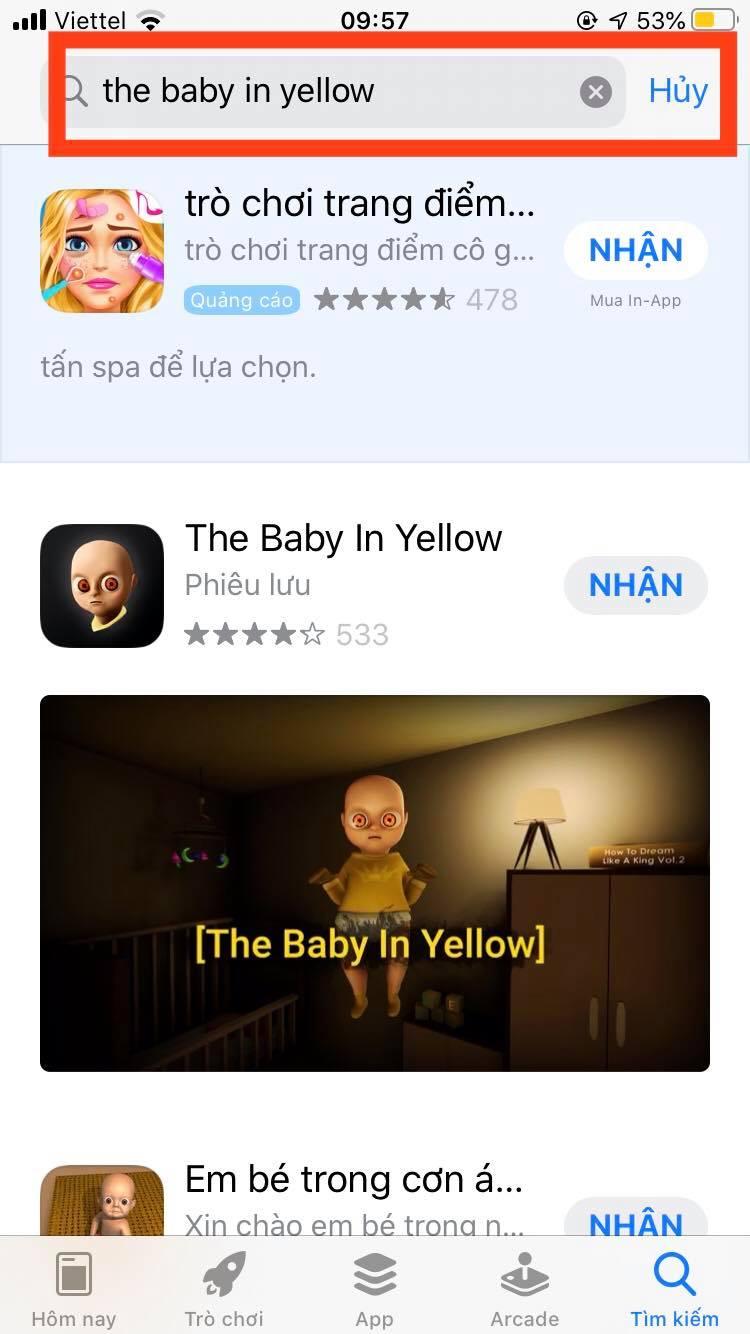 Tìm kiếm the baby in yellow trên thanh công cụ