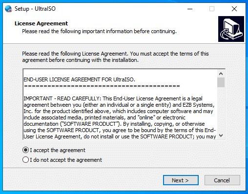Xem xét chấp nhận những điều khoản của phần mềm