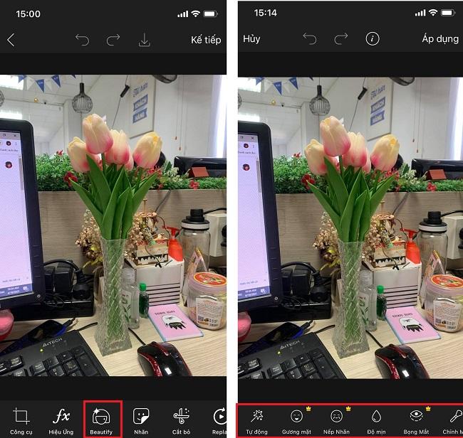 Chế độ Beautify chuyên nghiệp khi edit PicsArt