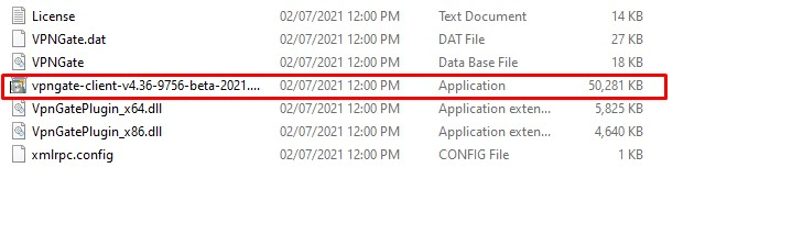 Mở file vpngate-client-v4.34-9744-beta-2020.03.20.exe